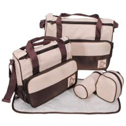 5pcs multi function baby diaper bag