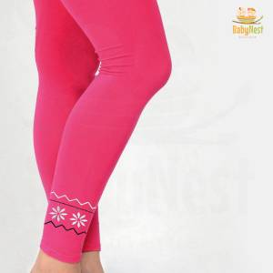 Pink Embroidered Tight for Girls