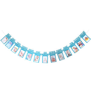 12 Month Photo Frame for Birthday Party