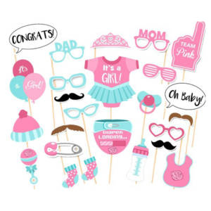 It's A Girl Baby Shower Photo Booth Props