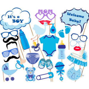 Photo Booth Props For Newborn Baby