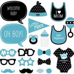 20Pcs Baby Shower Booth Props