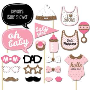 Booth Props for Baby Girl