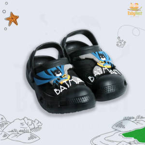 Black Slippers for Baby Boy - Size 24