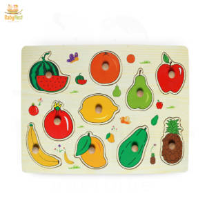 wooden fruit puzzle for kids