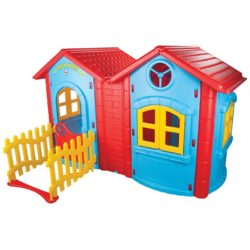 magic twin playhouse blue and red