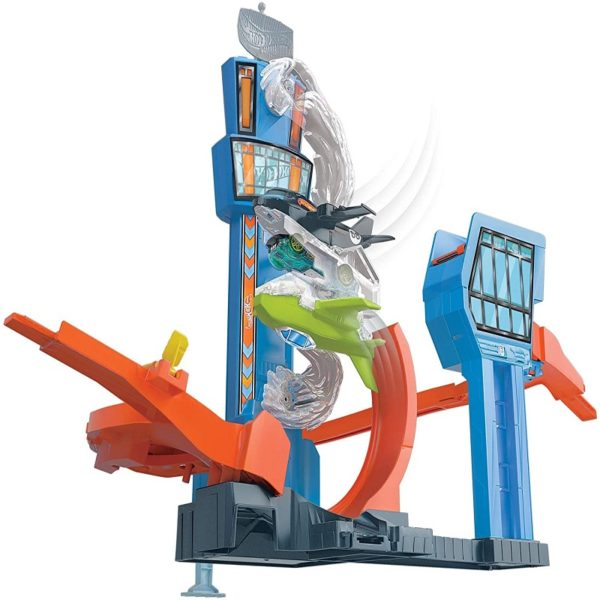 hot wheels track set - hot wheels airport playset motorized
