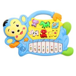 piano toy for kids - musical monkey piano toy blue