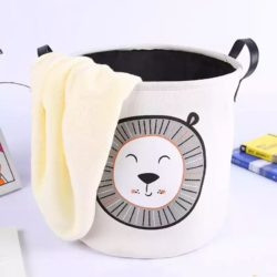lion print laundry basket- toys/laundry basket round