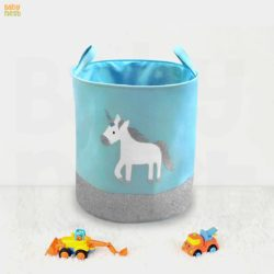 unicorn print laundry basket - toys/laundry basket round