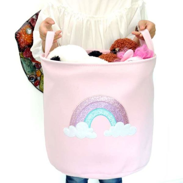 laundry basket - pink rainbow laundry basket